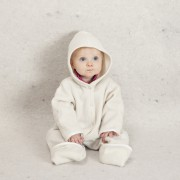Babysuit white with hood 6