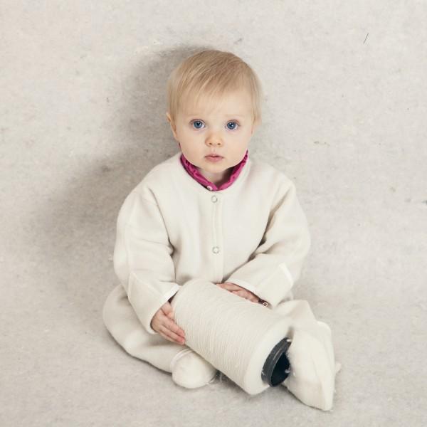 Babysuit white without hood 1