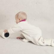 Babysuit white without hood 2