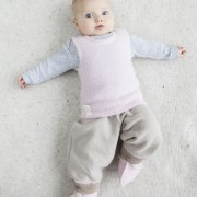 Vest pink, pants brown