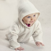 Babysuit white with hood 1